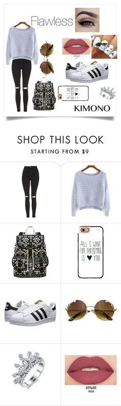 """im Flawless"" by allynnehstyles on Polyvore featuring Topshop, SM New York, Casetify, adidas Originals and Smashbox"