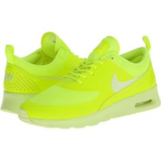 Nike Air Max Thea Women's Shoes, Yellow ($50) ❤ liked on Polyvore featuring shoes, athletic shoes, yellow, cushioned shoes, light weight shoes, yellow shoes, traction shoes and laced shoes