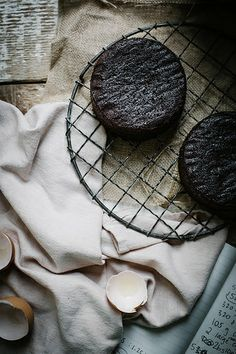 rich, moist chocolate lavender cake with mascarpone earl grey german buttercream by Beth Kirby | {local milk}, via Flickr