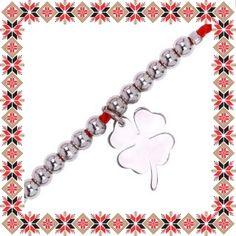 Martisor Bratara Inox Bile Trifoias Argintiu Bracelets, Model, Jewelry, Jewlery, Jewerly, Scale Model, Schmuck, Jewels