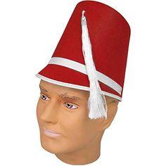 7ac86c5d77a Amazon.com  Felt Drum Major Hat - Red  Clothing