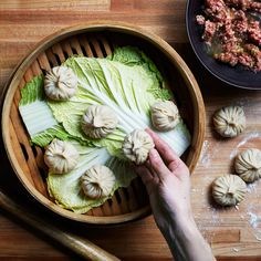 There's an art to eating soup dumplings: Nibble a bite, cautiously slurp the soup, then eat the rest. Check out the step-by-step process here and a video here.