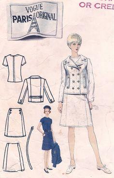 Vogue pattern 1639, circa 1966.