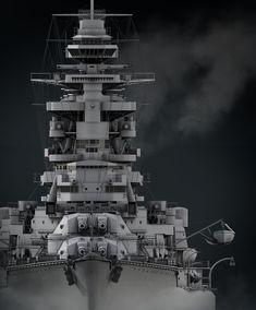 IJN Nagato by Dmitriy Mironov on ArtStation. 3d Modelle, Naval History, Military Weapons, Navy Ships, Aesthetic Collage, Model Ships, Battleship, World War Two, Warfare