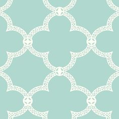 Serendipity Wallpaper in Aqua design by York Wallcoverings