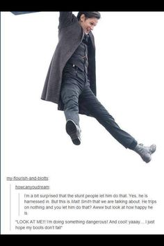 If you've read Steven Moffat's description of Matt Smith and then you see this...
