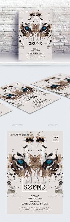 Buy Animal Sound Flyer Template by byNAC on GraphicRiver. Features: - Easy editable text - CMYK @ 300 DPI – Print-ready - Sizes: +bleed - Color variations - Images are not. Free Flyer Templates, Event Flyer Templates, Print Design, Logo Design, Mini Ma, Event Flyers, Sale Flyer, Christmas Design, Business Flyer