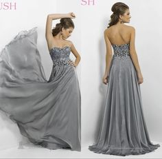 Hot Selling Dress 2014 A-Line Floor Length Appliques Sweetheart Off The Shoulder Empire Chiffon Prom Dresses Cheap Dresses Real