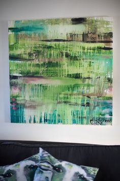 Tavla REGNSKOGEN skapad av konstnär Emelie Keynemo. konst, måleri, färg, inredning, grönt, blått, jotun, lady, ko, kossa, abstract, abstrakt, art, painting, canvas, akryl, keynemodesign, emmabourne.