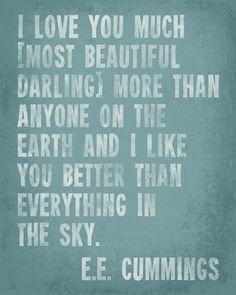 I Love You Much - E.E. Cummings