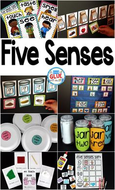 Engage your class in an exciting hands-on experience learning the five senses! Perfect for science activities for Kindergarten, First Grade, and Second Grade classrooms and packed full of inviting science activities. Students will learn five senses scienc Science Activities For Toddlers, Lesson Plans For Toddlers, Science Lesson Plans, Kindergarten Lesson Plans, Preschool Science, Preschool Lessons, Science Lessons, Teaching Science, Kindergarten Activities