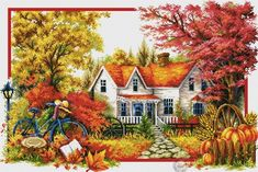 Thrilling Designing Your Own Cross Stitch Embroidery Patterns Ideas. Exhilarating Designing Your Own Cross Stitch Embroidery Patterns Ideas. Cross Stitch House, Counted Cross Stitch Kits, Cross Stitch Charts, Cross Stitch Designs, Cross Stitch Patterns, Cross Stitching, Cross Stitch Embroidery, Embroidery Fabric, Cross Stitch Landscape