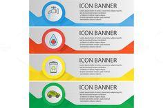 Ecology banner templates. Vector. $5.00