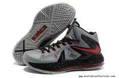 a2e7b07d6d4 Mens Shoes Nike LeBron X PS Elite Grey Red Black Nike Shoes
