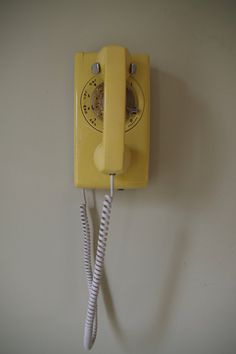 Vintage Yellow Western Electric Wall Mounting by retrowarehouse