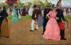 Henri Evenepoel,  Belgian (1872- 1899)  Sunday Stroll in the Bois de Boulogne
