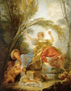 The See saw. Oil on Canvas - 1750. Artist: Jean-Honoré Fragonard. Museum: Thyssen-Bornemisza Museum.