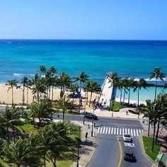 Waikiki, Hawaii - oh yeah, skateboard straight into paradise