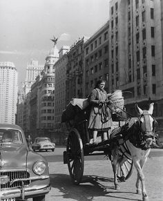 Madrid 1955 years after the end of spanish civil war) Photo: Francesc Catala Roca Old Photography, Street Photography, Vintage Photographs, Vintage Photos, Antique Photos, Old Pictures, Old Photos, Foto Madrid, Civil War Photos