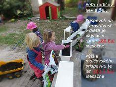 Čo môžu rodičia využívať, ale mnohý o tom nevedia... na to ma upozornila majiteľka škôlky http://naboso.eu/. Prajem veľa poslušných detí.