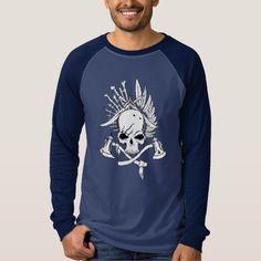 Pirates Men's Canvas Long Sleeve Raglan T-Shirt
