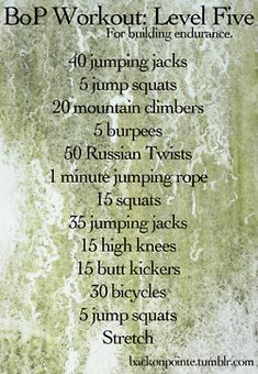 BoP Workout: Level Five