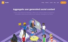 Create custom feeds from or measure audience engagement and publish curated social content to your websites, campaigns or live events. Flat Web Design, Ux Design, Ui Design Patterns, Web Design Inspiration, Design Ideas, Best Sites, Best Web, User Interface, Branding