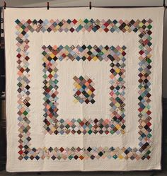 """Quilt Hand Made - Boston Commons - Green, yellow, blue, red, etc - full - 75"""" X 78"""""""