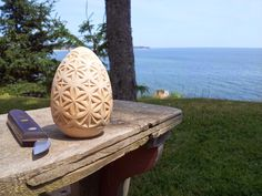 Chip carving at Little Harbour in Souris, PEI