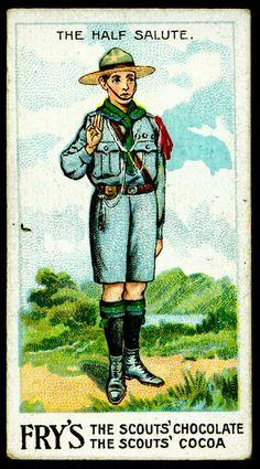 Trade Card - Boy Scout - Half Salute by cigcardpix, via Flickr