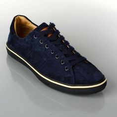 Bally Men's Jean Blue Suede Leather Lace Up Sneakers #bally #men #sneakers