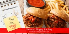 Loose Meat Sandwiches, Delicious Sandwiches, All American Food, National Day Calendar, Sloppy Joes Recipe, Homemade Tomato Sauce, National Holidays, Secret Recipe, New Flavour
