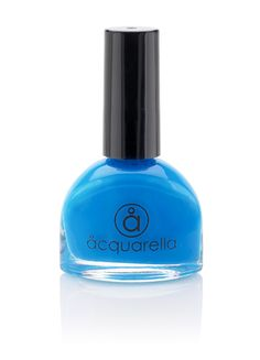 Make me blue! Acquarella Nail Polish is my favorite. Water-based, so absolutely no stank.