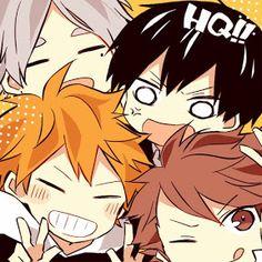 Haikyuu!! // Chibi - Suga, Kageyama, Hinata & Oikawa !!