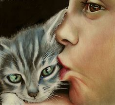 Brian Scott is a self-taught illustrator coming from Edinburgh, UK. He's working most of the time with colored pencils delivering breathtaking realistic portrai I Love Cats, Crazy Cats, Brian Scott, Polychromos, Color Pencil Art, Cat Drawing, Drawing Animals, Cat Art, Colored Pencils