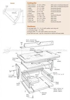 #1655 Tilting Drill Press Table - Drill Press Tips, Jigs and Fixtures