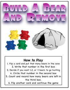 K: double stuffed: Build A Bear Subtraction