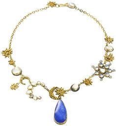 Pure poetry: Sun + Moon by Judy Geib Plus Alpha. Gold, silver, moonstone and opal.
