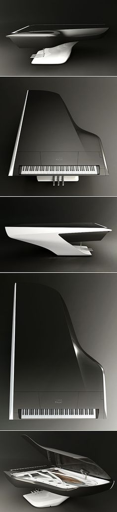 Futuristic Grand Piano by Peugeot Design Lab