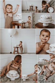 Boys First Birthday Cake, 1st Birthday Pictures, Birthday Cake Smash, Boy Birthday Parties, Baby Birthday, Birthday Week, Birthday Gifts, Baby Elefante, Baby Cake Smash