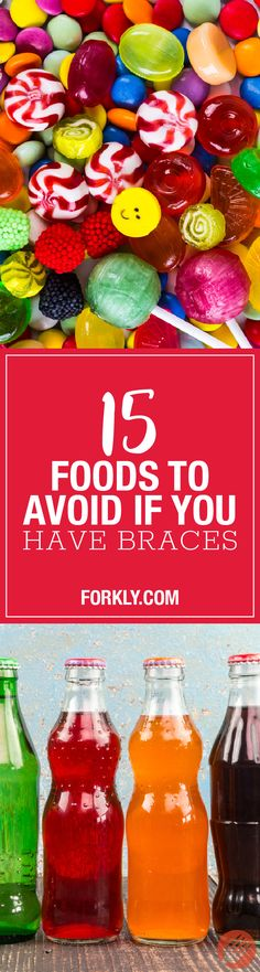 Getting braces for the first time can be a painful process, especially in the first couple of weeks. Braces can also affect your diet because some foods can. Braces Tips, Kids Braces, Teeth Braces, Getting Braces, Braces Colors, Brace Face, Natural Yogurt, Foods To Avoid