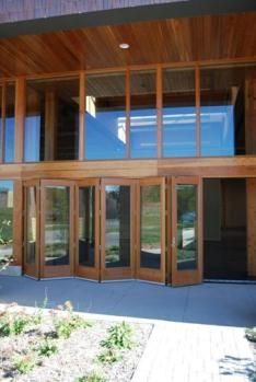 These doors are wood/alu, fold/slide doors made by the Gaulhofer ...