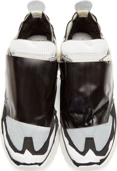Maison Margiela Black Deconstructed Sneakers