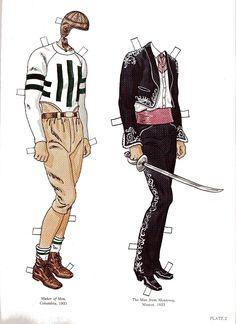 PD241 John Wayne Costumes in Maker of Men & The Men from Monterrey by Tom Tierney