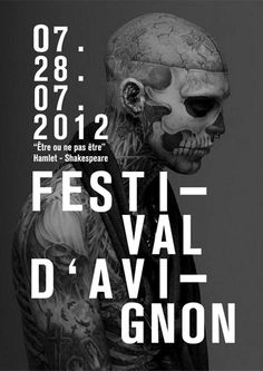 Been on a skull kick today... etre ou ne pas etre poster by matthieu salvaggio