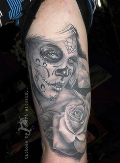 Sugar Skull Tattoos by Robert Witczuk