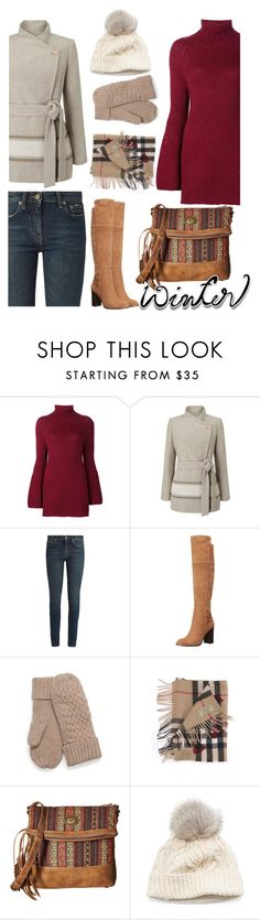 """""""Untitled #133"""" by faceless-girl ❤ liked on Polyvore featuring Rosetta Getty, Jacques Vert, Yves Saint Laurent, Pour La Victoire, Burberry, American West, SIJJL and wintersweater"""