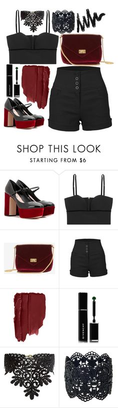 """last"" by ecem1 ❤ liked on Polyvore featuring Miu Miu, Alexander McQueen, LE3NO, Givenchy and New Look"