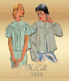 1950s Lingerie Pattern McCalls 1844 Bed by FloradoraPresents, $15.00