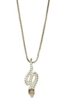 Wildfox Couture Jewelry, Gold Snake Pendant Necklace